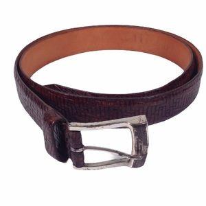 Martin Dingman Reccia Calfskin Belt Size 38